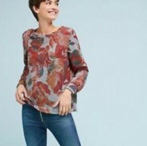 Anthro t.la Floral Sweatshirt